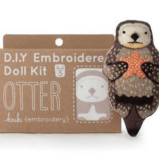 D.I.Y. Embroidered Doll Kit - Otter