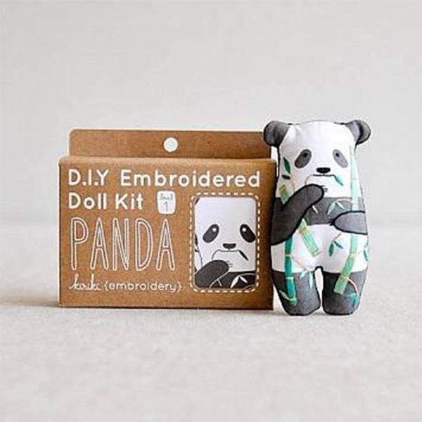 D.I.Y. Embroidery Doll Kit - Panda
