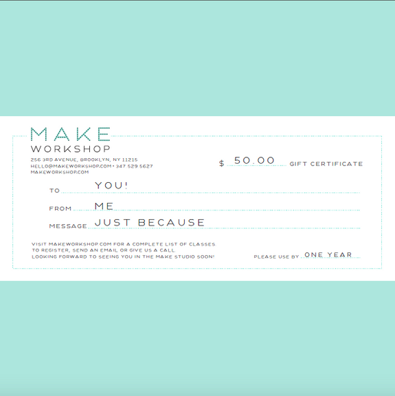 Gift Certificate (Snail Mail)