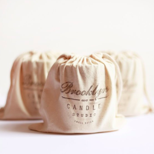 Cotton Muslin Hand-Stamped Gift Bag
