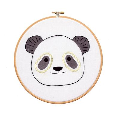 Panda - Hoop Art Kit
