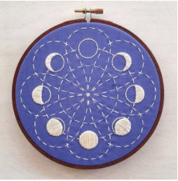 Lunar Blossom Embroidery Kit