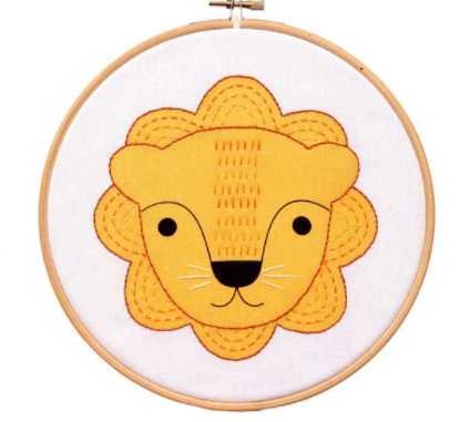 Little Lion - Hoop Art Kit