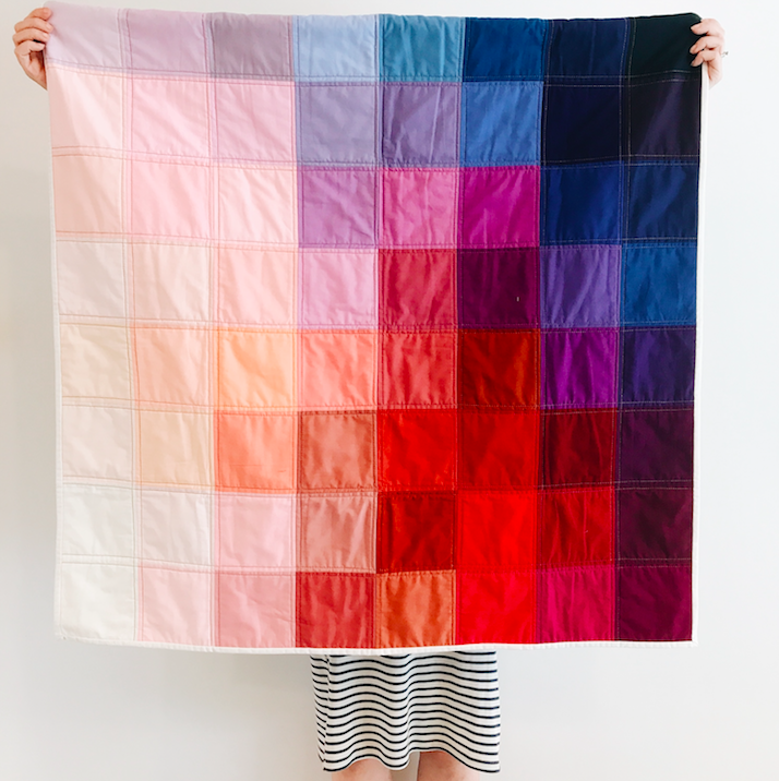 Grid Quilt: Berry