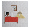 Reading in Bed Cross Stitch Kit