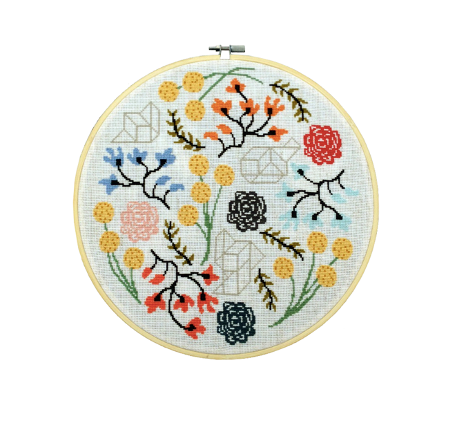 Floral Boogie Modern Cross Stitch Pattern