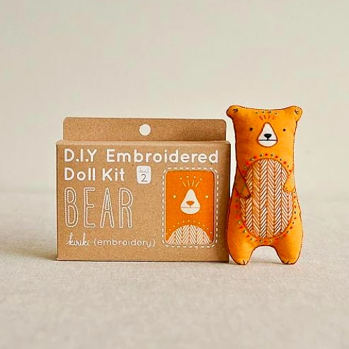 D.I.Y. Embroidered Doll Kit - Bear
