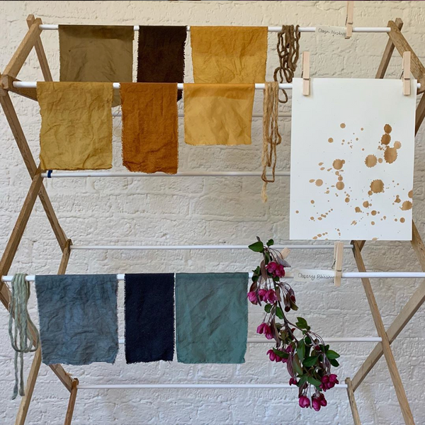 Natural Dyeing Workshop with @salt.textile.studios