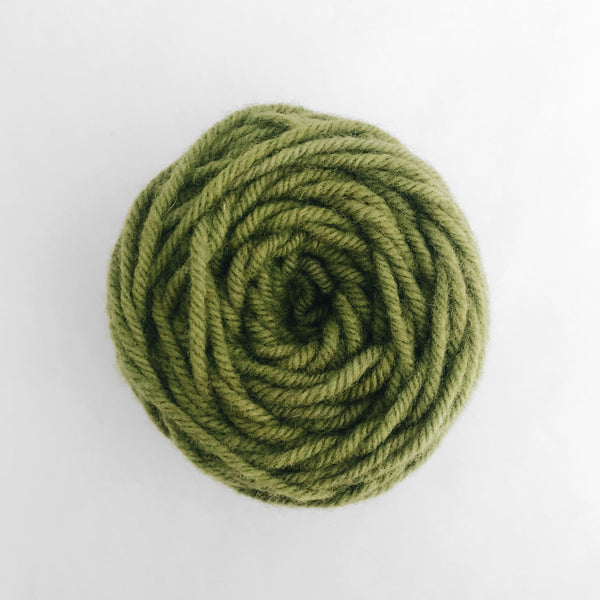 Moss Green Rug Wool Yarn
