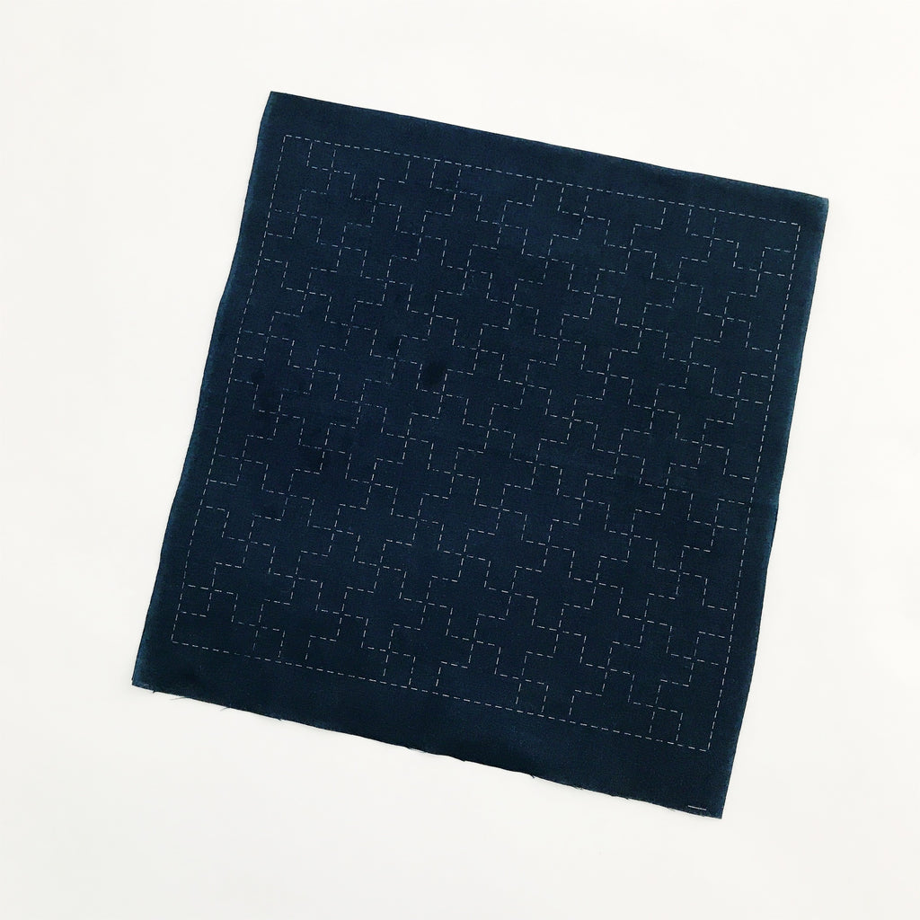 Sashiko Sampler - Navy (5 designs)
