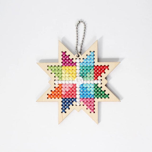 Holiday Star Cross Stitch Kit