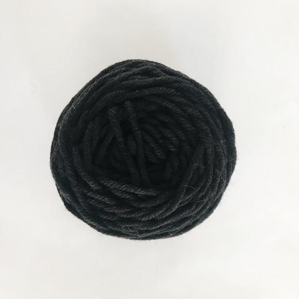 Black Rug Wool Yarn