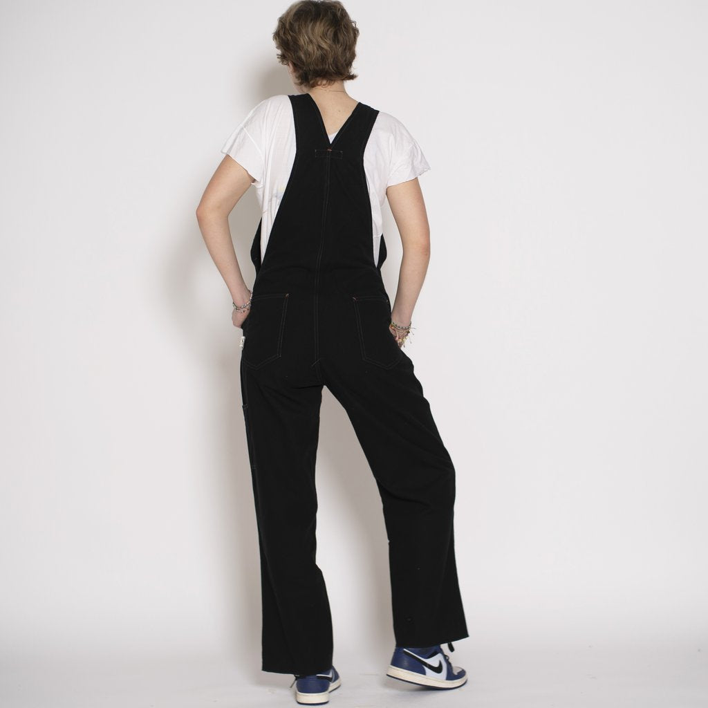Utility Canvas Overalls - Black