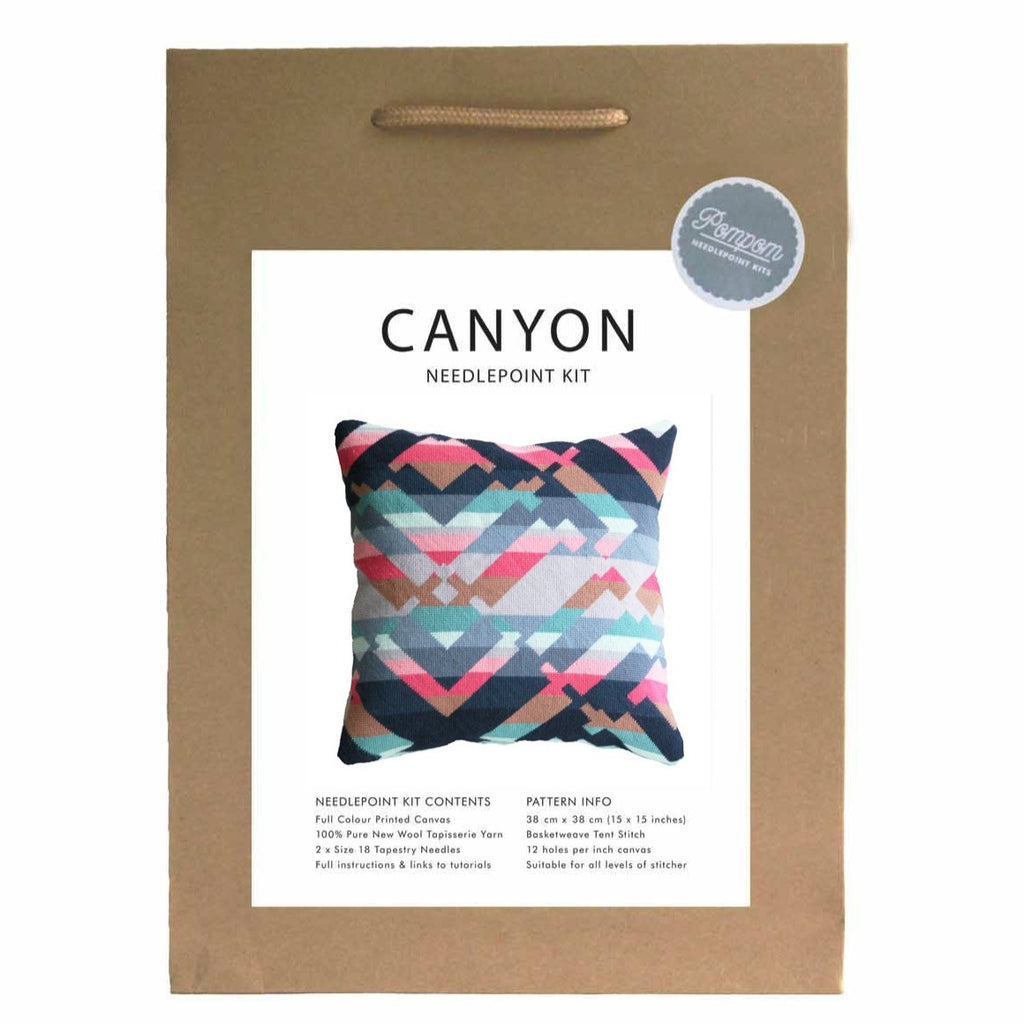"Pillow ""Canyon #2"" Needlepoint Kit"