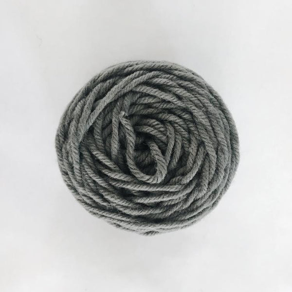 Deep Gray Rug Wool Yarn