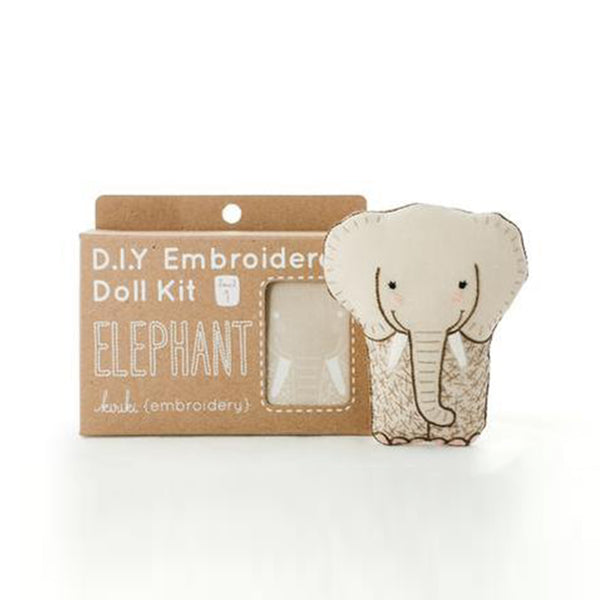 D.I.Y. Embroidery Doll Kit - Elephant