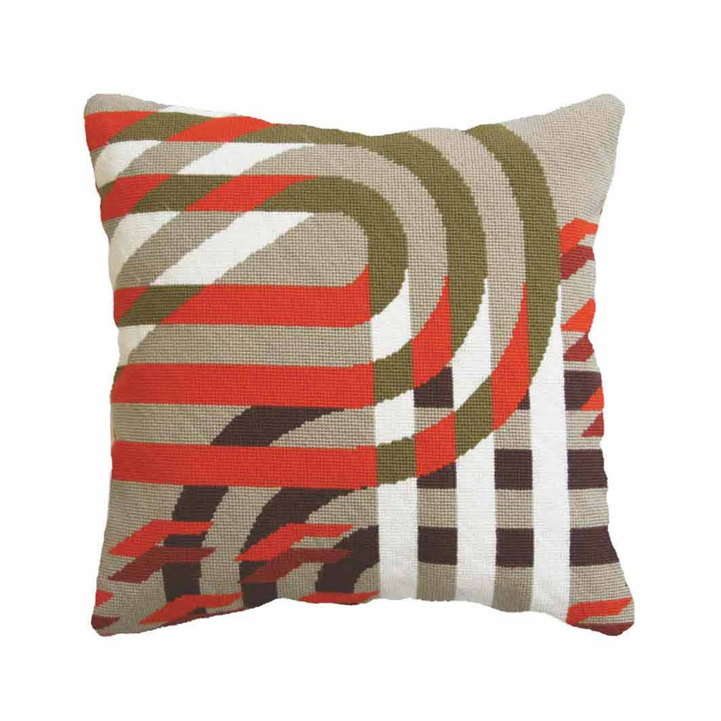 "Pillow ""Futura Red"" Needlepoint Kit"