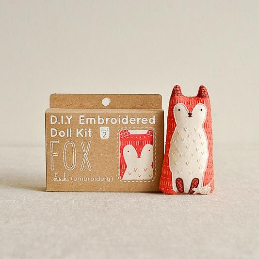 D.I.Y. Embroidered Doll Kit - Fox