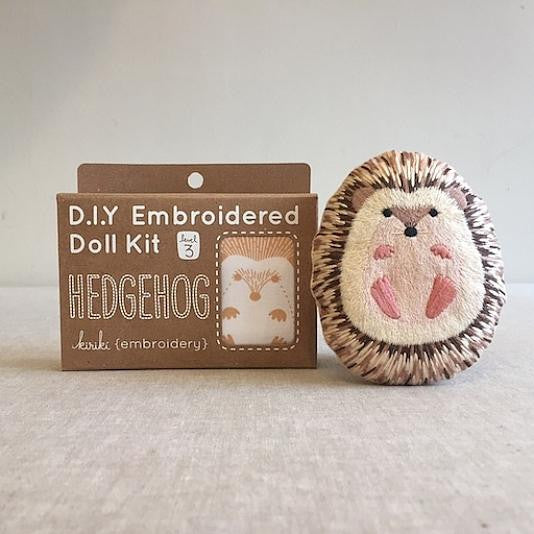 D.I.Y. Embroidered Doll Kit - Hedgehog