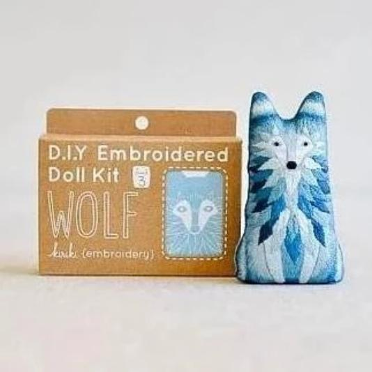 D.I.Y. Embroidered Doll Kit- Wolf