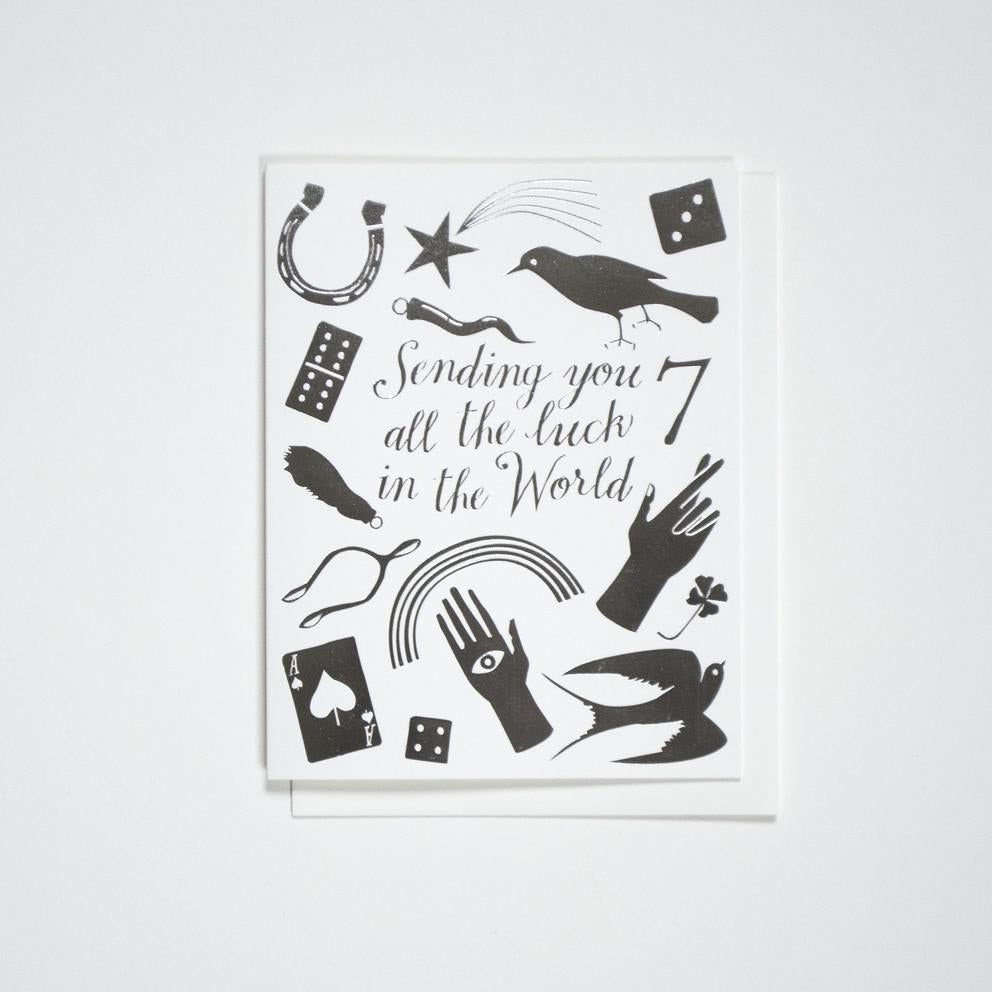 Sending You All The Luck in the World - Greeting Cards - Good Luck Charms