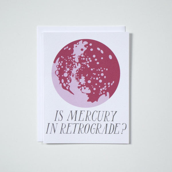Is Mercury in Retrograde? - Note Card