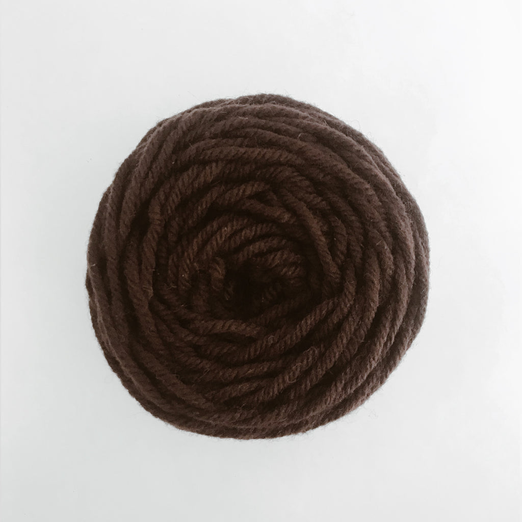 Brown Rug Wool Yarn