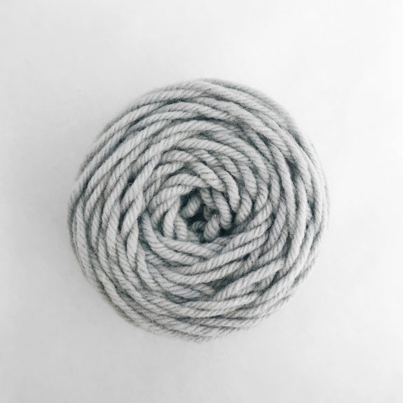 Pale Lavender Gray Rug Wool Yarn