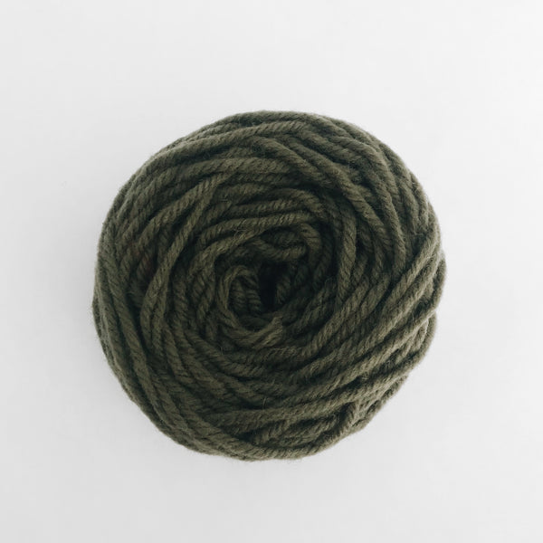 Dusty Green Rug Wool Yarn