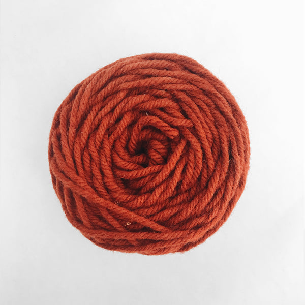 Rust Rug Wool Yarn