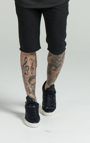 Sik Silk - Slouch Shorts - Black Oil Dye