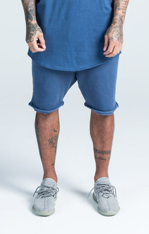 Sik Silk - Gym Shorts - Navy Washed