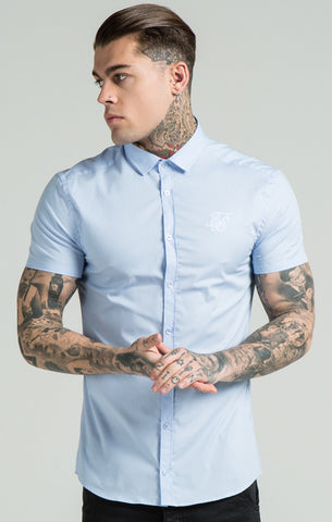 Sik Silk - Tab Shirt - Pale Blue