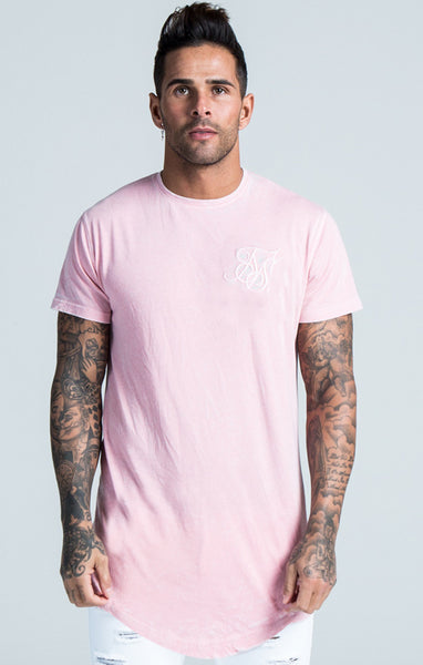 Sik Silk - Burn Out Tee - Pink
