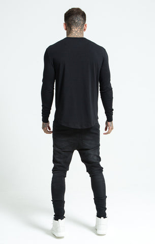 Sik Silk - Long Sleeve Gym Tee - Black