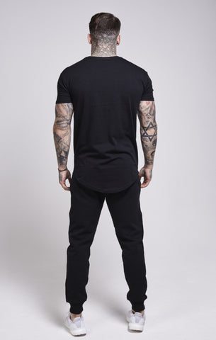 Sik Silk - Gold Edit Curved Hem Tee - Black