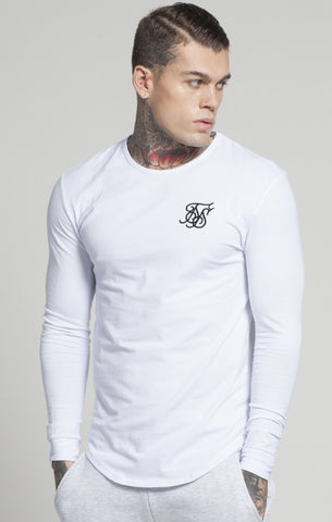 Sik Silk - Long Sleeve Gym Tee - White