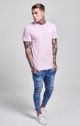Illusive London - Clouded Pigment Tee - Pink