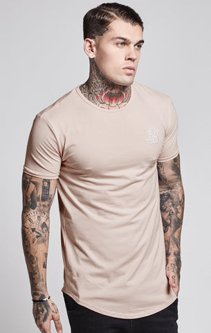 Sik Silk - Short Sleeve Gym Tee - Beige
