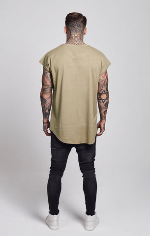 Sik Silk - Half Sleeved Tee - Washed Stone