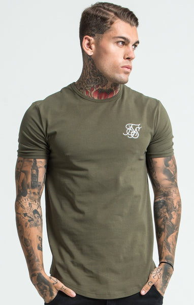 Sik Silk - Short Sleeve Gym Tee - Khaki