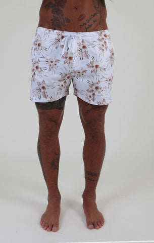 Sik Silk - Hawaii Shorts - White