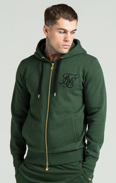 Sik Silk - Zip Through Hoodie - Forest Green