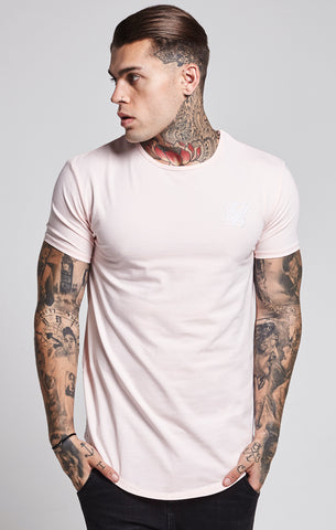 Sik Silk - Short Sleeve Gym Tee - Pink