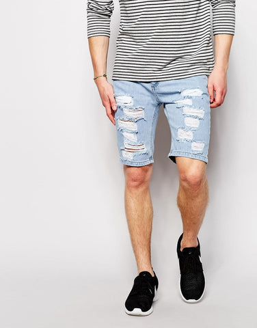 Sik Silk - Denim Shorts - Blue