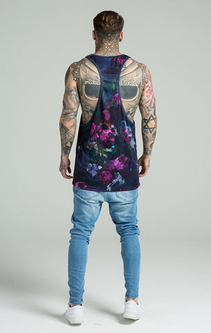 Sik Silk - Peonie Vest - Dark Ink