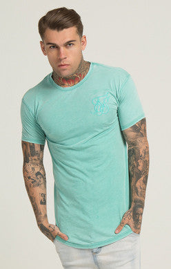 Sik Silk - Burn Out Tee- Light Teal