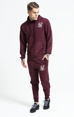 Sik Silk - Poly Tricot Fitted Jog Pant - Burgundy