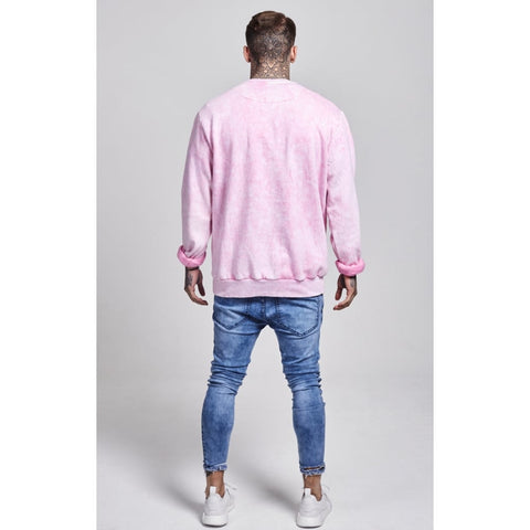 Illusive London - Clouded Pigment Wash Sweater - Pink