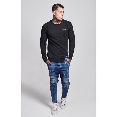 Illusive London - Offset Sweater - Black